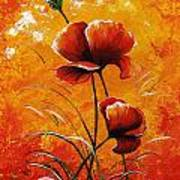 Red Poppies 023 Art Print