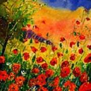 Red Poppies 45 Print by Pol Ledent