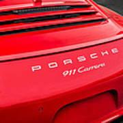 Red Porsche 911 Detail E183 Art Print