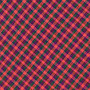 Red Purple And Green Diagonal Plaid Textile Background Art Print