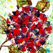 Red Purple Flower Art Print