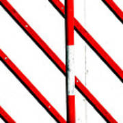 Red Red Line Art Print