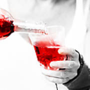 Red Red Wine Art Print by Jenny Rainbow