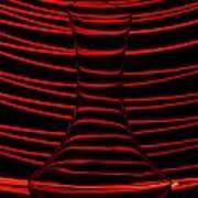 Red Rhythm Art Print