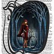 Red Riding Hood With Text Art Print