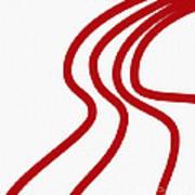 Red River On White Art Print