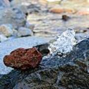Red Rock And Crystal Water Art Print