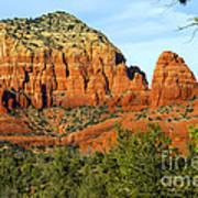Red Rock Butte Art Print