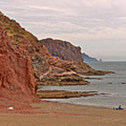 Red Rock By Sea Of Cortez From San Carlos-sonora Art Print