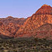 Red Rock Canyon Pano Art Print by Jane Rix
