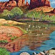 Red Rock Crossing-sedona Art Print by Marilyn Smith