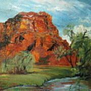 Red Rock Art Print by Jolyn Kuhn