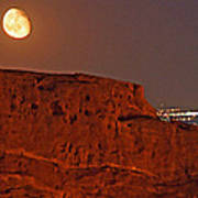 Red Rock Moon Art Print