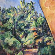 Red Rock Print by Paul Cezanne
