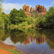 Red Rock Reflection Art Print