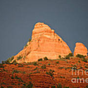 Red Rock Rising Art Print