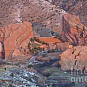 Red Rocks Amphitheater On Fire Art Print
