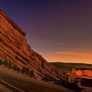Red Rocks Amphitheatre At Night Art Print