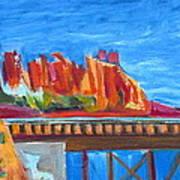 Red Rocks And Railroad Trestle Art Print