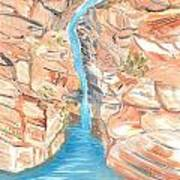 Red Rocks Of Water Art Print