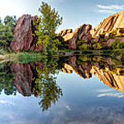 Red Rocks Reflection Art Print