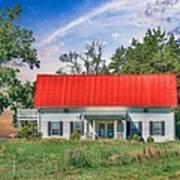 Red Roof Charm Art Print