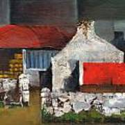 Red Roofs In Clare Art Print