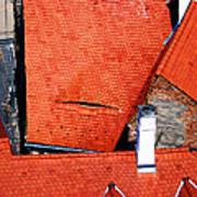 Red Roofs Of Sibiu Art Print