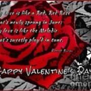 Red Rose Valentine Art Print
