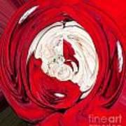 Red Rose Wrap Art Print