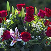 Red Roses Say I Love You Art Print