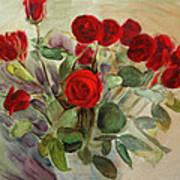 Red Roses Art Print by Tanya Byrd
