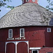 Red Round Barn With Cupola Art Print