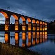Red Royal Border Bridge Art Print