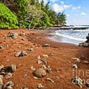 Red Sand Seclusion - The Exotic And Stunning Red Sand Beach On Maui Art Print