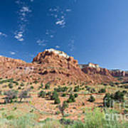 Red Sandstone Mesa  Art Print