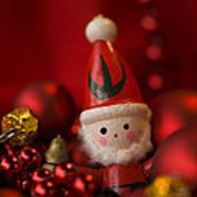 Red Santa Art Print