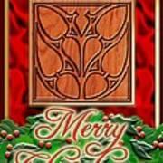 Red Satin Christmas Art Print