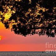 Red Sea Sunset Art Print by George Paris
