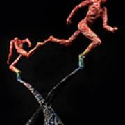 Red Shift A Science Sculpture By Adam Long Art Print by Adam Long