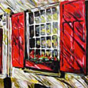 Red Shutters Art Print