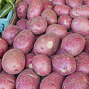 Red Skin Potatoes Stall Display Art Print