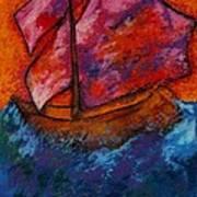 Red Sky At Night Sailors Delight Art Print