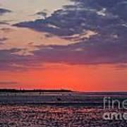 Red Sky At Sword Beach Art Print