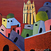 Red Sky In San Miguelle De Allende Art Print