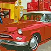 Red Studebaker Art Print