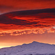 Red Sunrise Over National Park Sierra Nevada Art Print