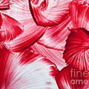 Red Swirls Background Art Print