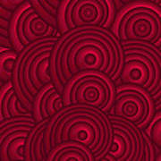Red Swirls Art Print