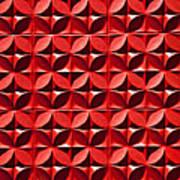 Red Textured Wall Art Print